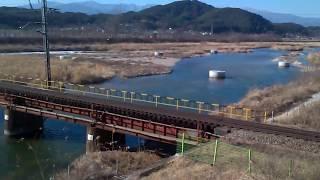 고현2교를 통과하는 화물열차