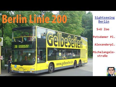 Berlin Buslinie 200- Sightseeing- S+U Zoologischer Garten Nach Michelangelostraße