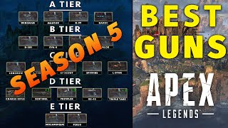 Apex Legends Best Guns Season 5 Tier List Rankings