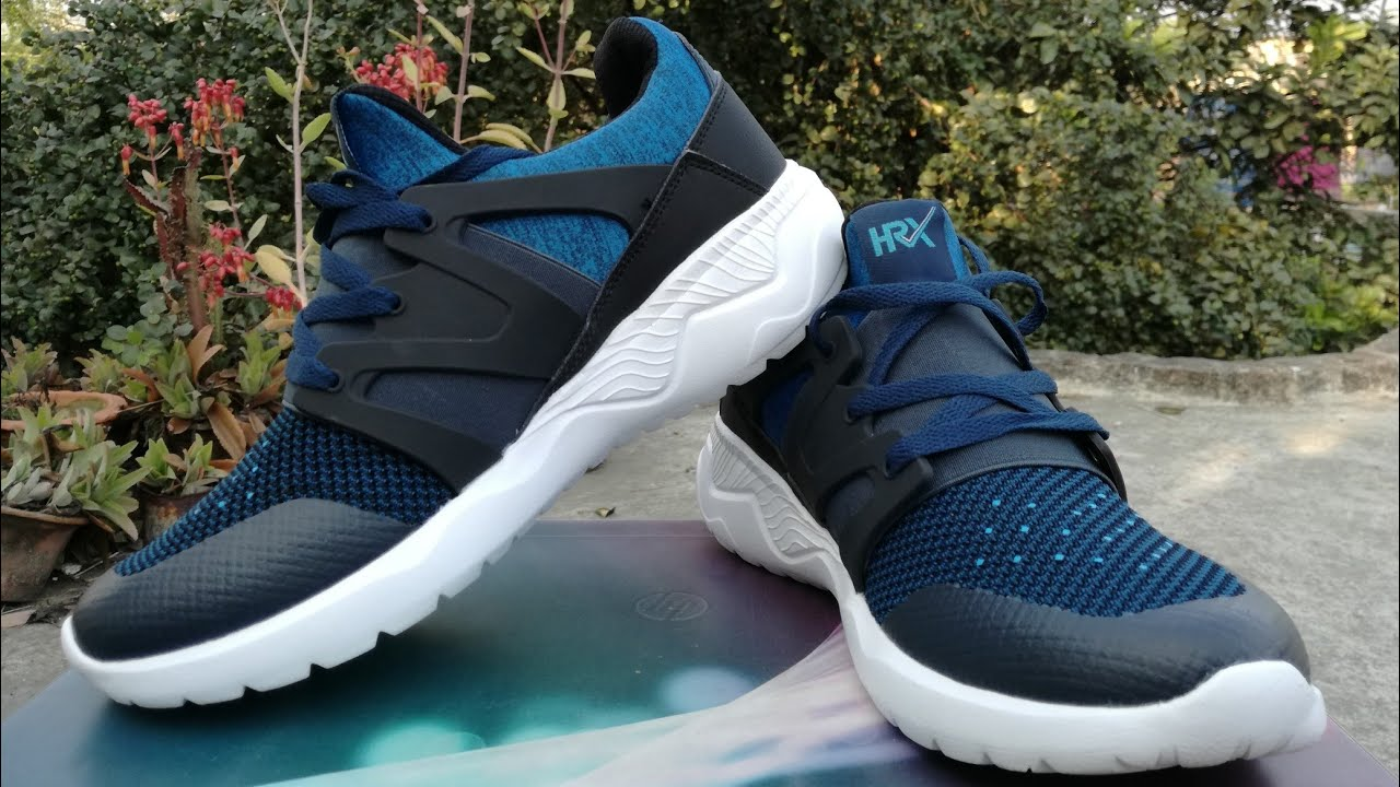 cf19b9e92 HRX men blue training shoes - style code  1655784 - unboxing - YouTube