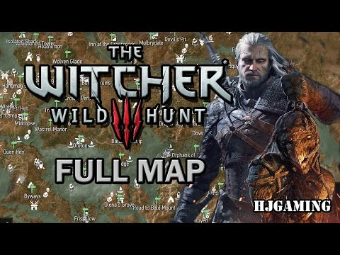 Witcher 3 Full Map Unlocked With All Sign Points