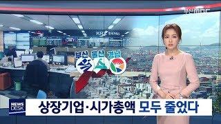 부울경 상장기업 시가총액 줄어, 부산MBC뉴스 리포트,…