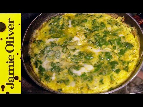 French Green spinach Frittata