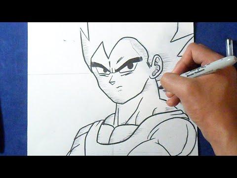Facil Como Dibujar A Vegeta Dragon Ball Z How To Draw Vegeta