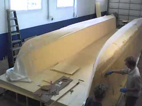 Step 1 laminating new 33'  cat water taxi design