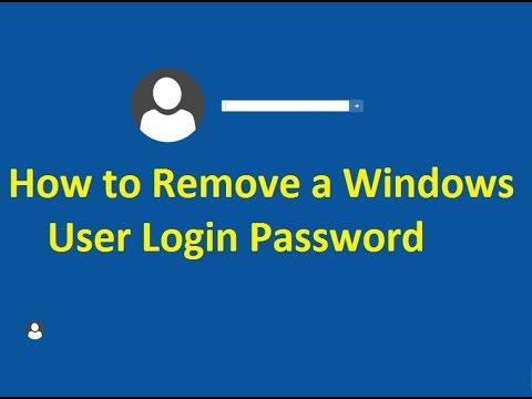 remove windows user login password