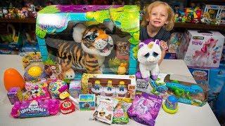HUGE Toy Tiger Surprise Toys Opening Blind Bags Surprise Eggs Toys for Girls & Boys Kinder Playtime