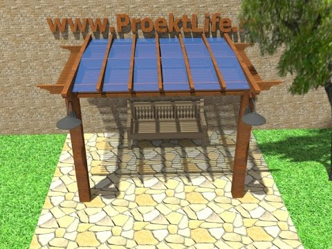 How To Build A Gazebo Pergola Canopy Youtube