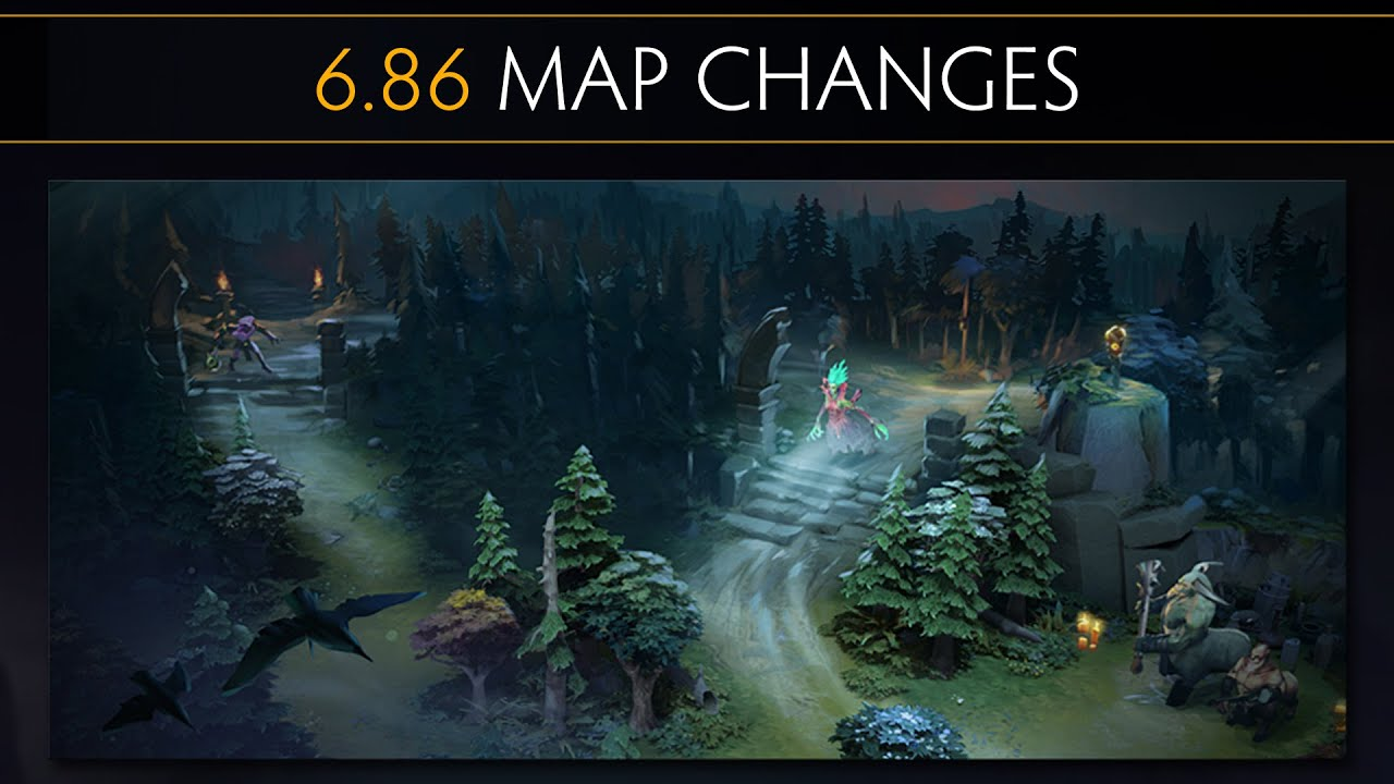 Dota 2 686 Map Changes YouTube