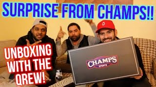 Champs Sports Sneaker Unboxing with the QREW!
