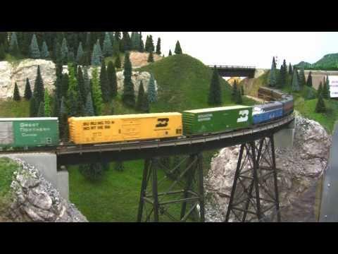 Bn Ho Scale Layout Model Railroad Train Video Hd Jan