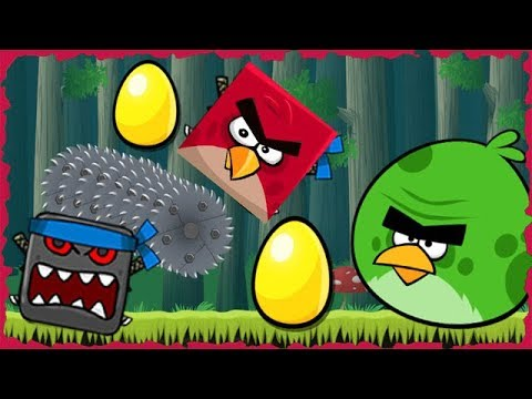 Green Terence Angry Bird In Red Ball 4 Deep Forest Mobile Game Walkthrough