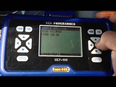 READ PIN CODE FOR BUICK NEW GL8 Remote Key for SKP-900 Key Programmer