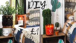 BUDGET DIY ROOM DECOR 2019 | 6 POUNDLAND DIY UPCYCLE IDEAS | MR CARRINGTON