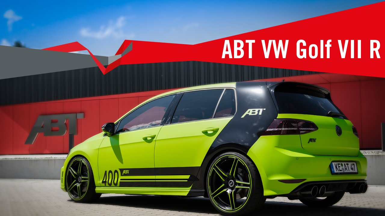 the new volkswagen golf vii r from abt sportsline youtube