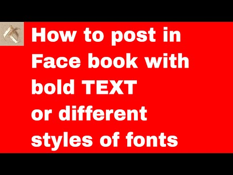 How to post in Face book with bold TEXT or different styles of fonts   Facebook Technics   FB Tricks