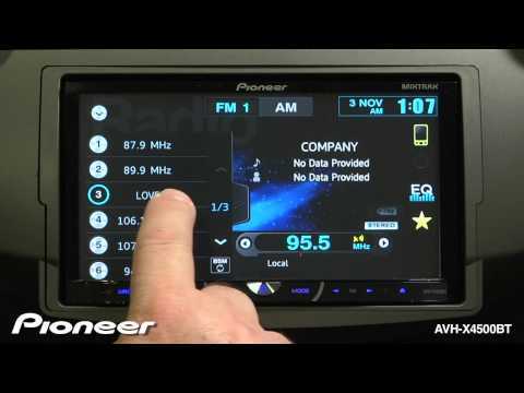How To - AVH-X4500BT FM/AM Radio Tuner Functions