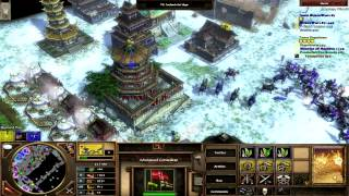 Age of Empires III: The Asian Dynasties (PC) Multiplayer Lan - 4 Hards - Large Siberia Map