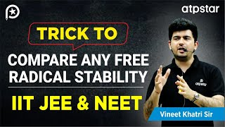 Trick to Compare any Free radical stability - IITJEE concepts in Hindi