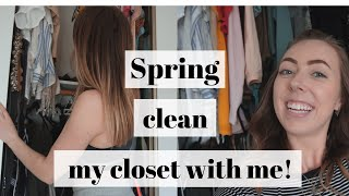 GIANT Spring closet cleaning!!! | Showing you ALL my clothes