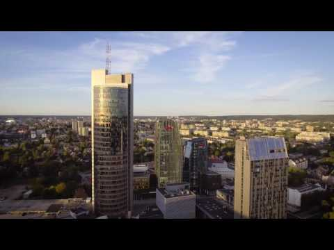 Lithuania, Vilnius City Drone Montage 'The Flight'