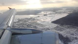 A320 Landing in Moscow-Domodedovo