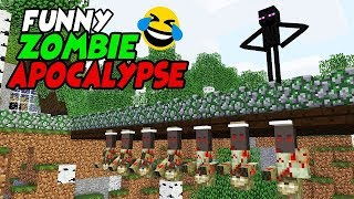 MONSTER SCHOOL : FUNNY ZOMBIE APOCALYPSE - Best Minecraft Animation