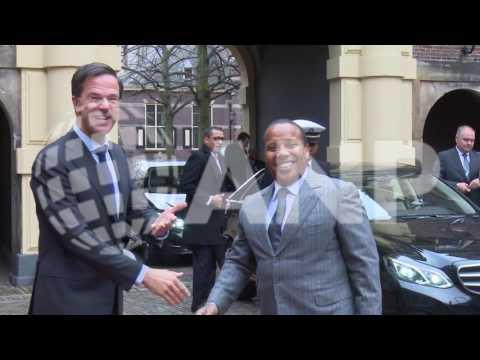 Rutte ontvangt ambtsgenoot Trovoada van Sao Tome en Principe