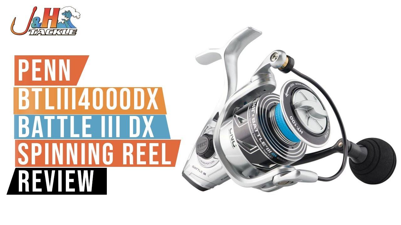 Penn Battle lll 4000 DX BTLlll4000DX Spinning Reel NEW 2020