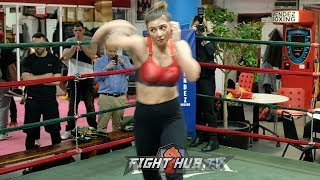 CHRISTINA HAMMER SHADOW BOXING - SHOWING EXCELLENT TECHNIQUE & FOOTWORK