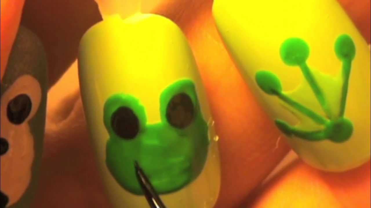 Frog nail tutorial - YouTube