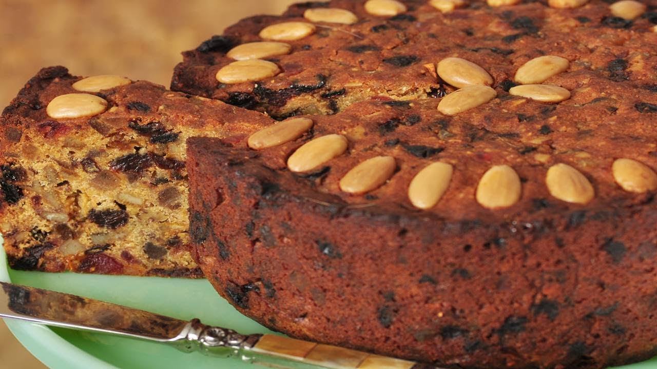 British Christmas Cake.Fruit Cake Recipe Video