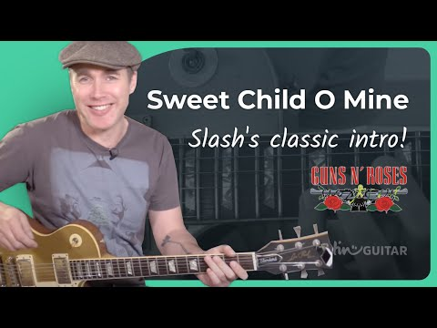 How to play Sweet Child O' Mine [#1 INTRO] Guns 'n' Roses – Guitar Lesson Tutorial (ST-376)