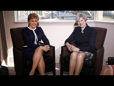 Theresa May and Nicola Sturgeon make joint statement - watch live