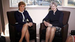 Theresa May and Nicola Sturgeon make joint statement - watch live