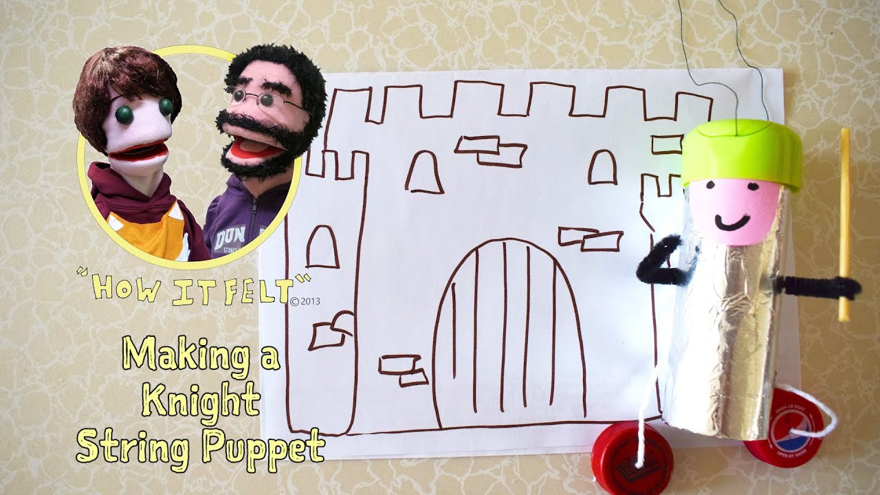Fuzzy Finger Crafts: How to Make a Knight String Puppet