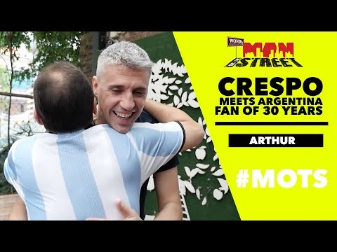 How did Maradona influence a young Crespo? | Man On The Street | Astro SuperSport
