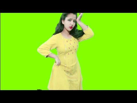 Beautiful girl green