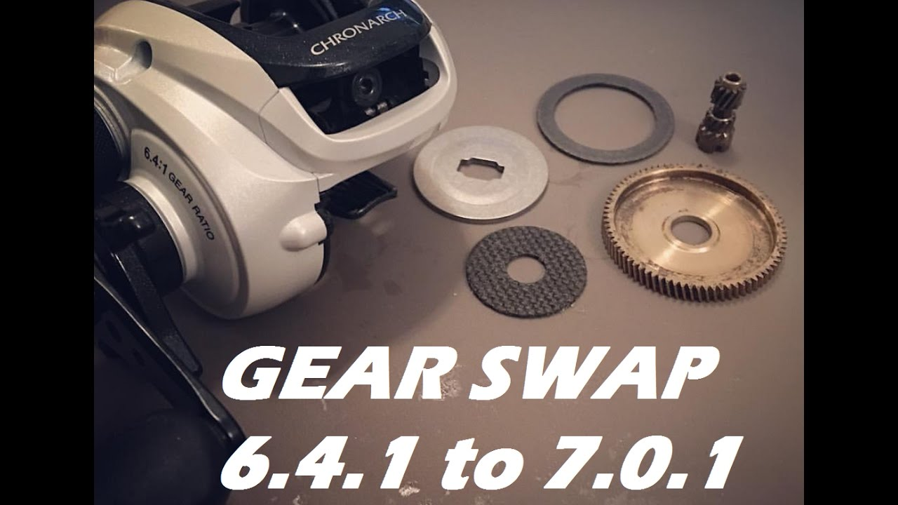 Upgrade your Chronarch/Curado 50e gears to a 7 0 1 ratio