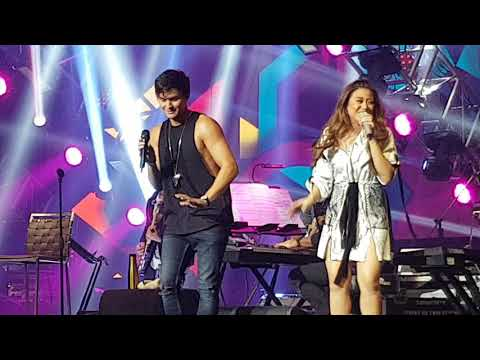 Matteo Guidicelli and Morisette Amon sing