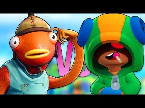 БРАВЛ СТАРС VS ФОРТНАЙТ 2 | СУПЕР РЭП БИТВА | Brawl Stars Песня Леон ПРОТИВ Fortnite Animation