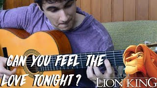 THE LION KING: Can You Feel The Love Tonight? - Fingerstyle Guitar (Marcos Kaiser)