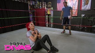 Eva Marie trains with Brian Kendrick: Total Divas Preview Clip, July 7, 2015