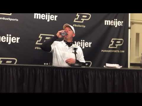 Purdue's Jeff Brohm on beating No.2 Ohio State