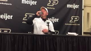 Purdue's Jeff Brohm on beating No.2 Ohio State