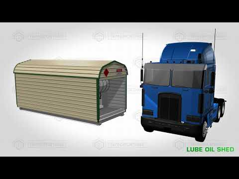 Lube Oil and Waste Oil Storage for Vehicle Maintenance and Servicing