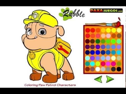 juego de pintar de la patrulla canina  YouTube
