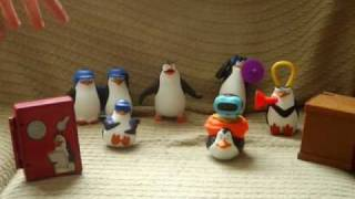 Mcdonalds Penguins of Madagascar 2010 Mcdonalds toys in action! (UNITED KINGDOM VERSIONS)