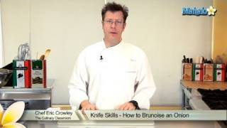 Knife Skills - How To Brunoise An Onion