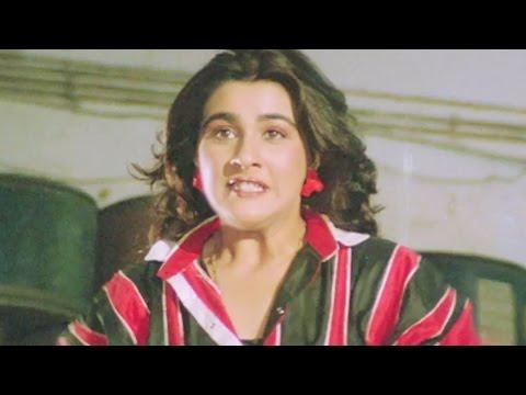 Amrita Singh fight with the Goons - Ilaaka Action Scene 10/20